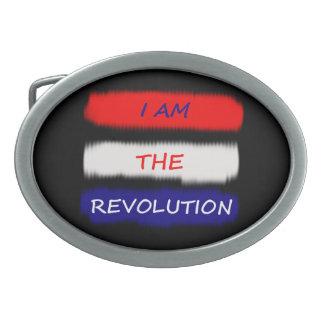 Revolutions-Gürtelschnalle Ovale Gürtelschnalle