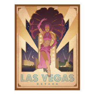 Revuegirl Las Vegass, Nevada   Postkarte