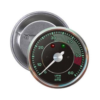 Revzähler/-tachometer vom klassischen Sportauto Button