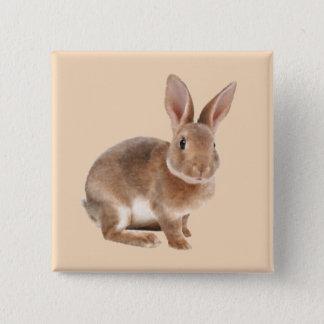Rex Kaninchen Quadratischer Button 5,1 Cm