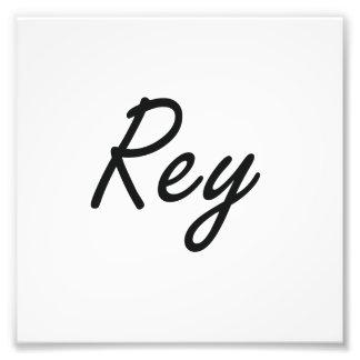 Rey künstlerischer Namensentwurf Kunst Foto