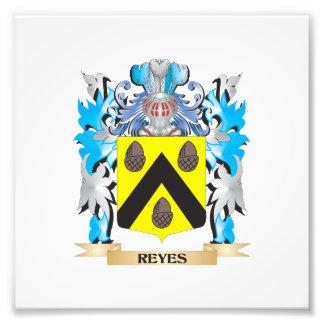 Reyes-Wappen - Familienwappen Photodruck