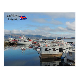 Reykjavik-Hafen, Island Postkarte