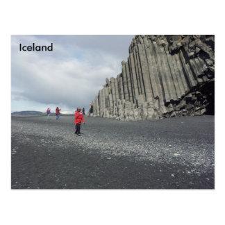 Reynisfjara schwarzer Sandstrand, Island Postkarte