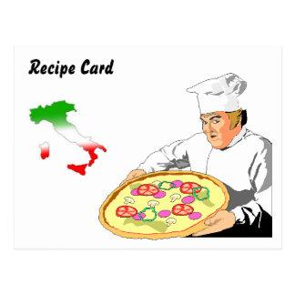 Rezept kardiert Geschenk-Set-Italiener-Pizza Postkarten