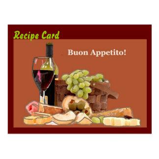 Rezept-Karten-Geschenk-Set - Buon Appetito Postkarten