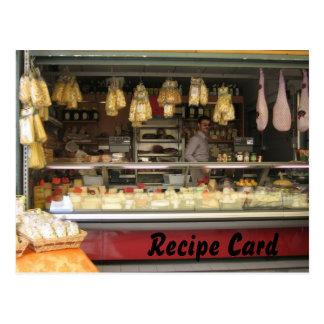 Rezept-Karten-Geschenk-Set - italienischer Käse Postkarten