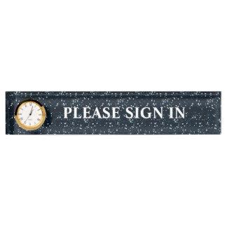 Rezeptions-Büro kundengebundenes Nummernschild Namensplakette