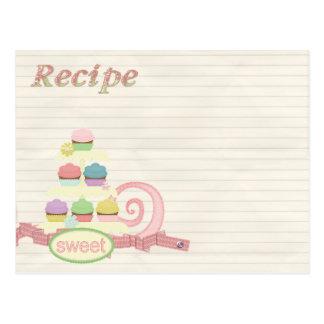 Rezeptkarten-Kuchenbehälter Postkarten