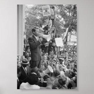 RFK, das an KERN Kundgebung spricht Poster