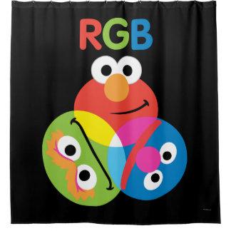 Rgb-Sesame Street Duschvorhang