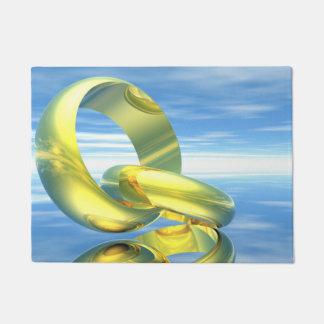 rGolden Eheringe - 3D übertragen Türmatte