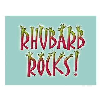 Rhabarber-Felsen Postkarte