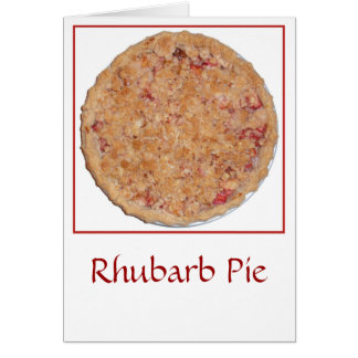 Rhabarber-Torte Karte