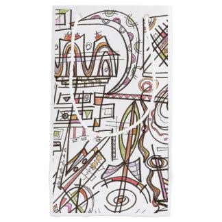 Rhapsodie-Abstrakte Kunst geometrisch Kleine Geschenktüte