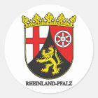 Rheinland-Pfalz (Rheinland-Pfalz) COA Runder Aufkleber