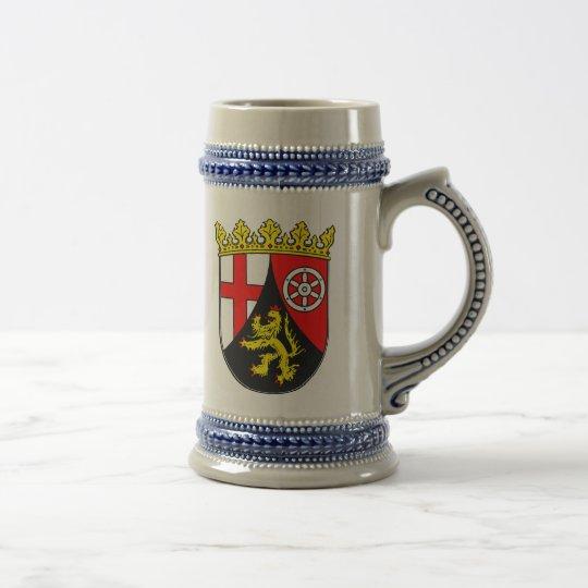 Rheinland-Pfalz Wappen Bierglas