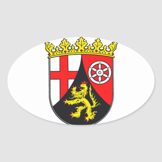 Rheinland-Pfalz Wappen Ovaler Aufkleber