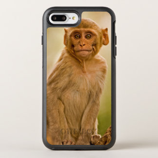 Rhesusfaktormacaque-Baby (Macaca Mulatta) | in OtterBox Symmetry iPhone 8 Plus/7 Plus Hülle