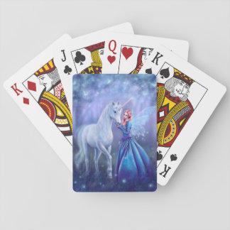 Rhiannon - Einhorn und feenhafte Spielkarten
