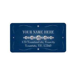 Rhinestonemarineblau-Adressen-Etiketten Adressaufkleber