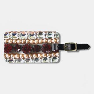 Rhinestones und Perlen - Vintager Schmuck Gepäckanhänger