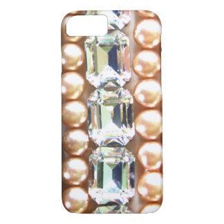 Rhinestones und Perlen - Vintager Schmuck iPhone 8/7 Hülle