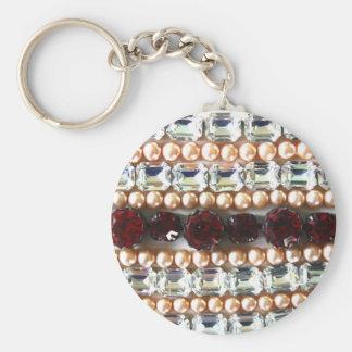 Rhinestones und Perlen - Vintager Schmuck Schlüsselanhänger