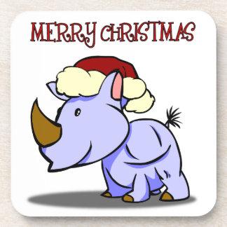 Rhino-frohe Weihnacht-Untersetzer