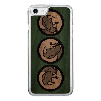 Rhino in einem Kreis - Tiermotive Carved iPhone 8/7 Hülle