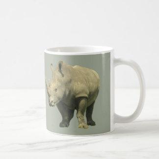 Rhinos auf Grau Kaffeetasse