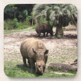 Rhinos auf Safari-Untersetzer Untersetzer