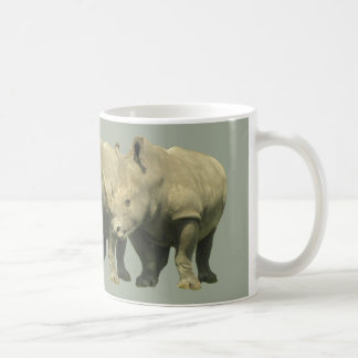 Rhinos-Deckung auf Grau Kaffeetasse