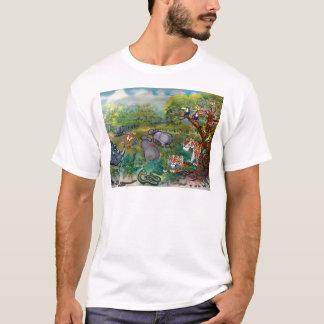 Rhinos-Flusspferde und Tiger T-Shirt