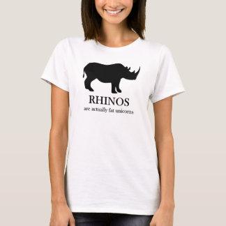 Rhinos sind fetter Unicorns-T - Shirt