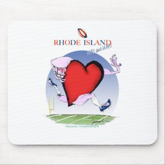 Rhode Island Hauptherz, tony fernandes Mousepad