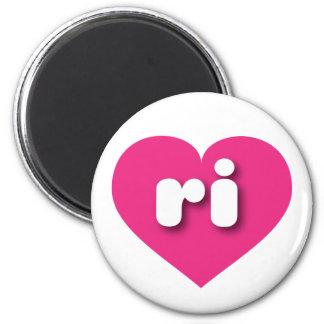 Rhode Island Herz heißen Rosas - MiniLiebe Runder Magnet 5,1 Cm