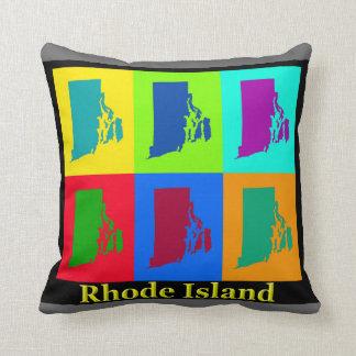 Rhode Island Karte Kissen