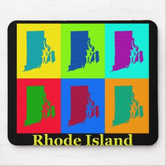 Rhode Island Karte Mousepad