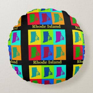Rhode Island Karte Rundes Kissen