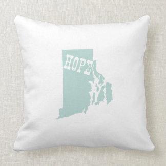 Rhode Island Staats-Slogan-Motto Kissen