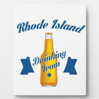Rhode Island trinkendes Team Fotoplatte