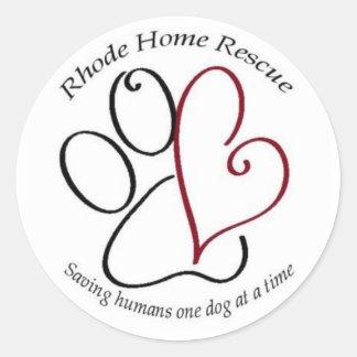 Rhode Zuhause-Rettungs-Aufkleber Runder Aufkleber