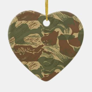 Rhodesian Camouflage Keramik Ornament