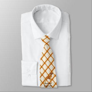 Rhodesian Ridgeback auf TAN-Blätter Krawatte
