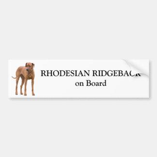 Rhodesian Ridgeback Hund an Bord des Autoaufkleber