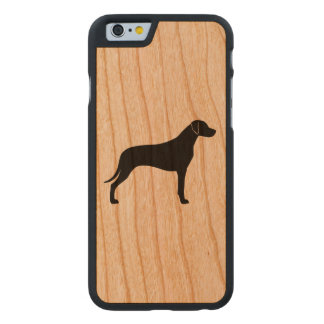 Rhodesian Ridgeback Silhouette Carved® iPhone 6 Hülle Kirsche