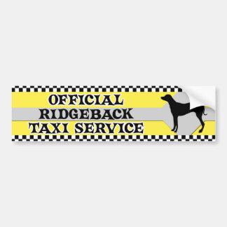 Rhodesian Ridgeback Taxi-Service-Autoaufkleber Autoaufkleber