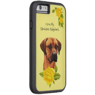 Rhodesian Ridgeback und gelbe Rosen Tough Xtreme iPhone 6 Hülle