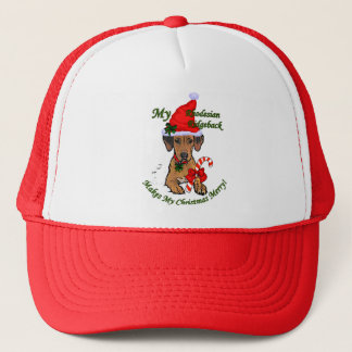 Rhodesian Ridgeback Weihnachtsgeschenke Truckerkappe